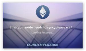 Ethereum loading screen